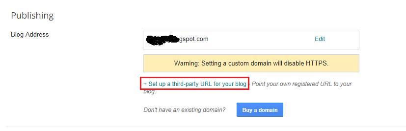 Blogger.com custom domain settings