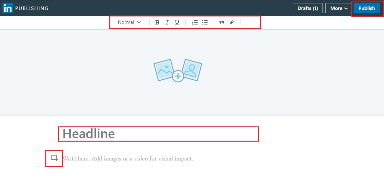 linkedin blog editor